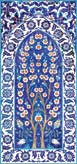 Variatons on the 16th Century Cobalt-blue Ground Panel from the mimber of the Rustem Pasa Mosque, Istanbul